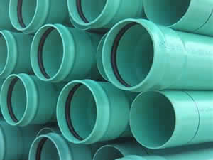 Stocked sewer pipe